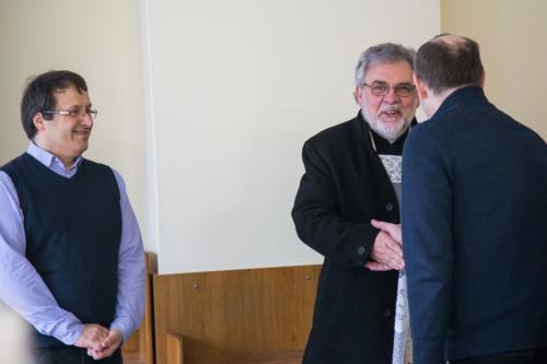 Gabriel Bies, ks. Proboszcz i organista Waldemar Pawlik